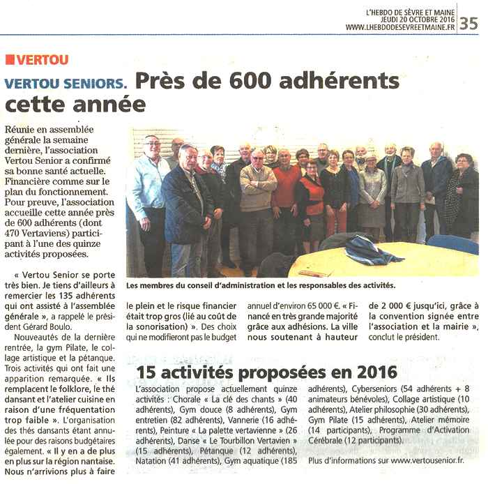 HSM Article du 201016 Suite à l'AG du 6 octobre 2016